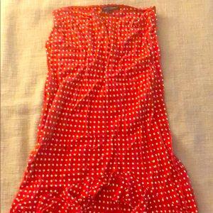 Betsey Johnson red polka dot skirt